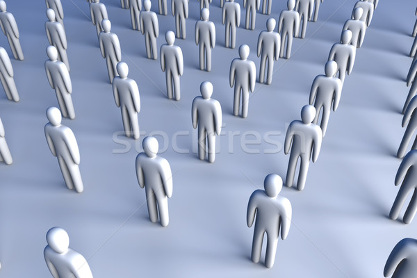 Icon Crowd Stock photo © Spectral