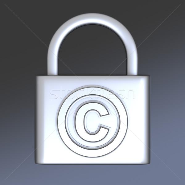 Droit d'auteur protection symbole 3D rendu illustration Photo stock © Spectral