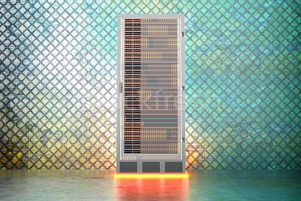Metal servidor quarto ferro 3D prestados Foto stock © Spectral