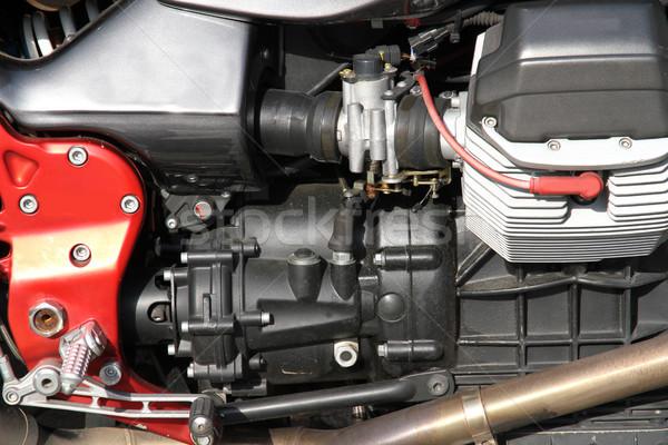 Motor közelkép építkezés technológia háttér olaj Stock fotó © Spectral
