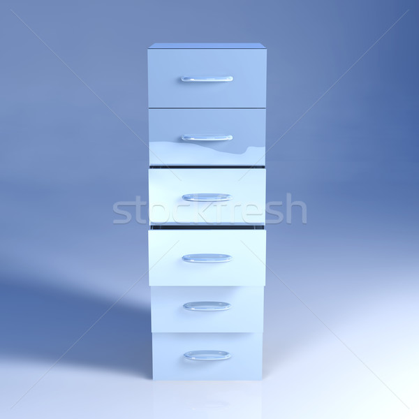 Metal Filing Cabinet Stock photo © Spectral