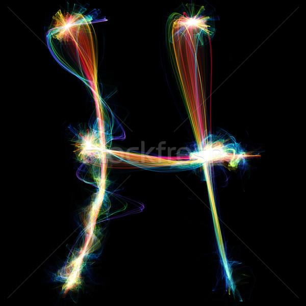 Plasma lettre sur énergie design Photo stock © Spectral