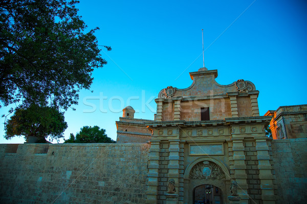 Arquitetura histórica Malta europa cidade luz viajar Foto stock © Spectral
