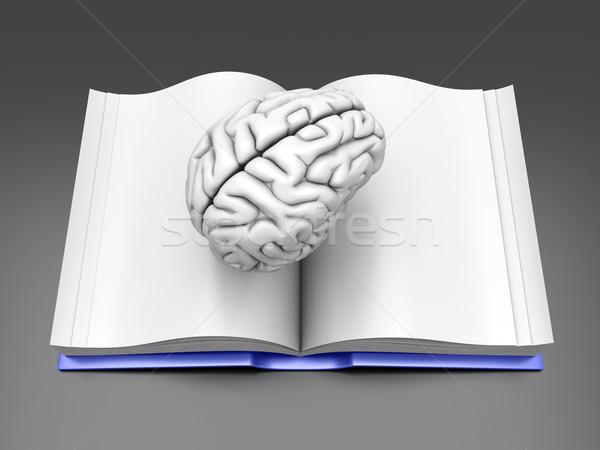 Cervello libro psichiatrica carta spazio biblioteca Foto d'archivio © Spectral