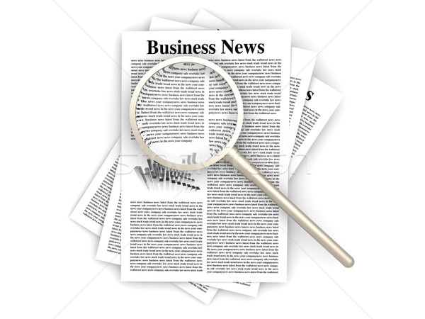 Searching for business news Stock photo © Spectral