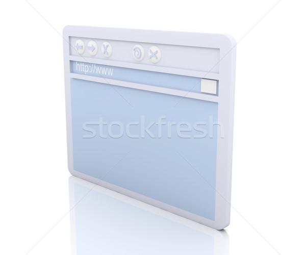 Navegador janela ilustração 3d simbólico internet tecnologia Foto stock © Spectral