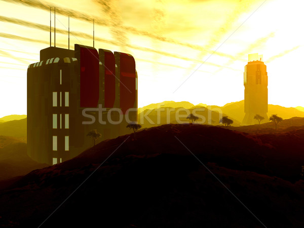 бета цифровой декораций научное исследование станция земле Сток-фото © Spectral