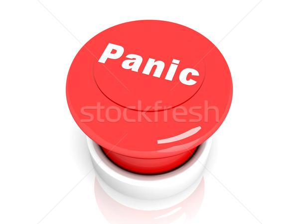 パニック ボタン 3次元の図 ヘルプ デジタル マシン ストックフォト © Spectral