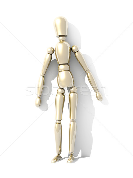 Muur 3D gerenderd illustratie man Stockfoto © Spectral