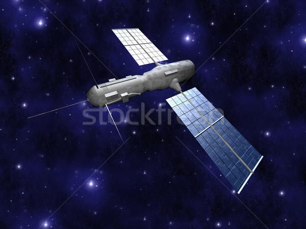 Satélite neutro 3D prestados cenário tecnologia Foto stock © Spectral