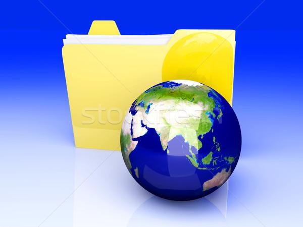 Global Klasör Asya 3D render örnek Stok fotoğraf © Spectral