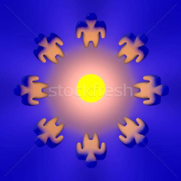 3d иллюстрации бизнеса сеть группа энергии власти Сток-фото © Spectral
