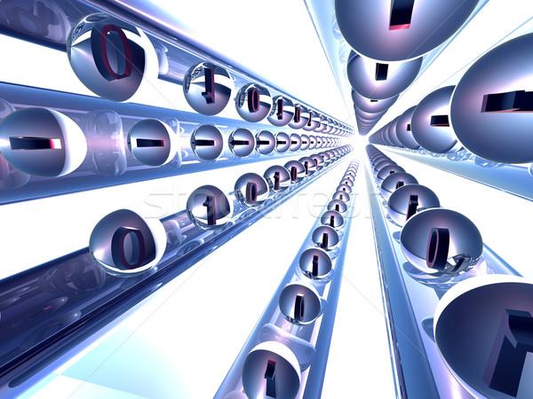 繊維 チャンネル 繊維 3D レンダリング コンピュータ ストックフォト © Spectral