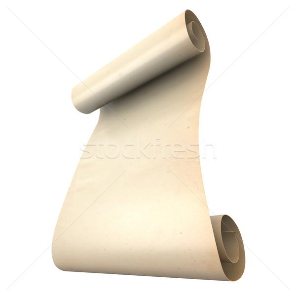 Antigo rolar 3D prestados ilustração isolado Foto stock © Spectral
