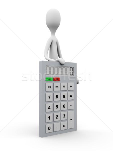Presenteren berekening cartoon cijfer 3D gerenderd Stockfoto © Spectral
