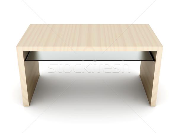 столе 3D оказанный иллюстрация изолированный белый Сток-фото © Spectral