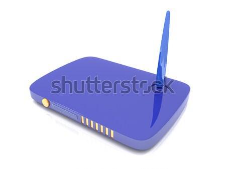 Sem fio rede router ilustração 3d computador tecnologia Foto stock © Spectral