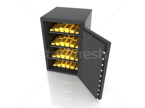 золото депозит 3d иллюстрации изолированный белый безопасности Сток-фото © Spectral