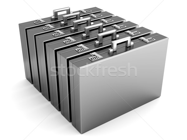 A row of Briefcases	 Stock photo © Spectral