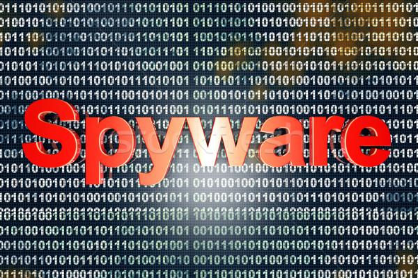 Spyware código tipografia digital binário fundo Foto stock © Spectral