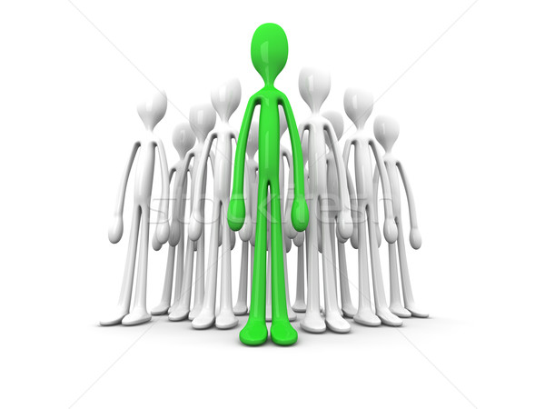 Chef d'équipe 3d illustration isolé blanche foule groupe Photo stock © Spectral