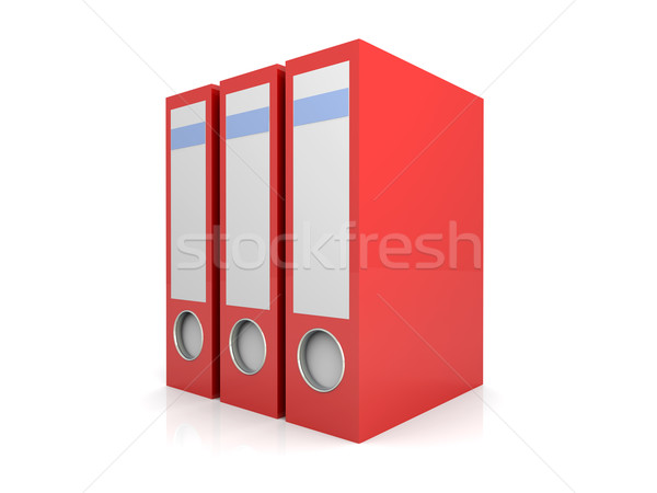 üç klasörler 3D render örnek yalıtılmış Stok fotoğraf © Spectral