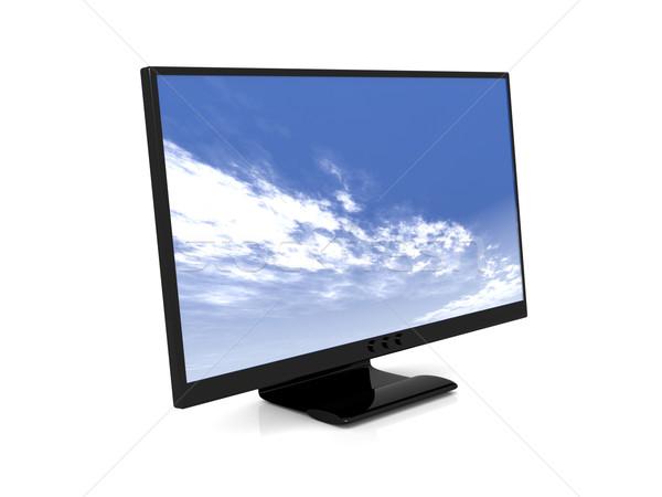 Lcd display 3D gerenderd illustratie televisie Stockfoto © Spectral