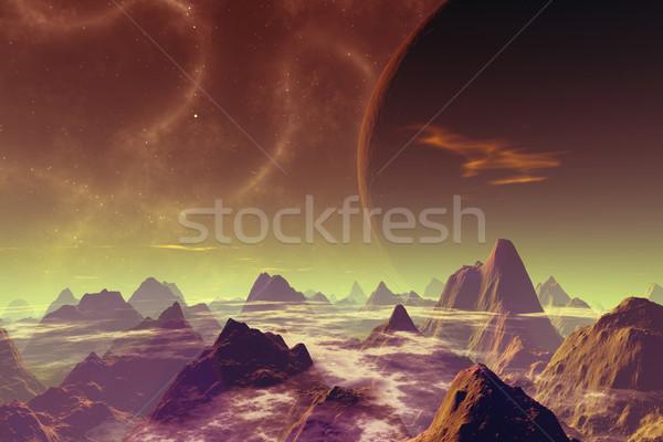 Morto mundo 3D prestados imagem scifi Foto stock © Spectral
