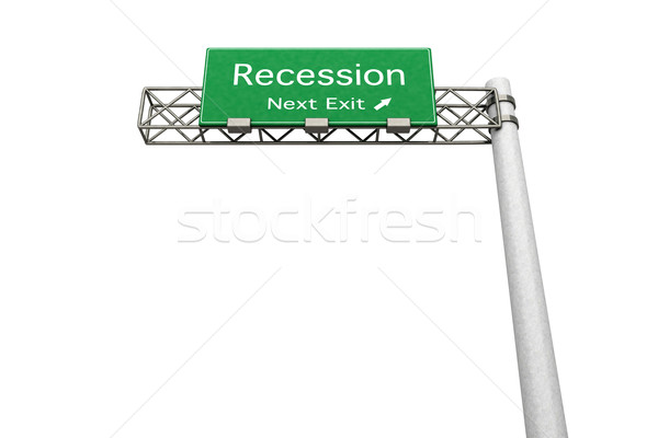 Sinal da estrada recessão 3D prestados ilustração próximo Foto stock © Spectral