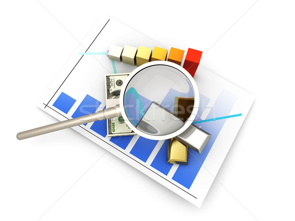 Stok fotoğraf: Borsa · analiz · finansal · 3D · render