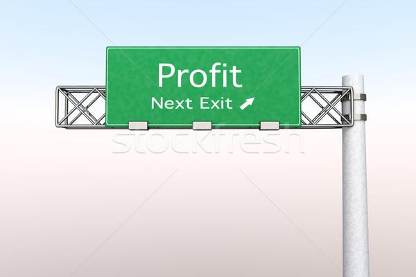 Znak autostrady zysk 3D świadczonych ilustracja następny Zdjęcia stock © Spectral