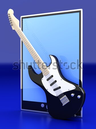 A All in one computer with a Guitar		 Stock photo © Spectral