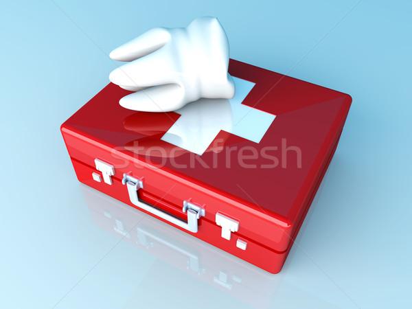Diente primeros auxilios caso 3D prestados ilustración Foto stock © Spectral
