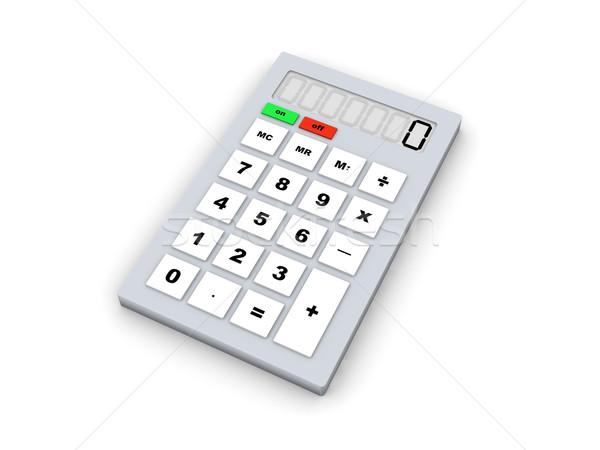 Calculator 3d illustration geïsoleerd witte kantoor onderwijs Stockfoto © Spectral