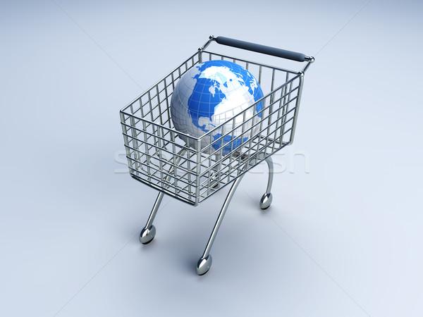Globale shopping 3D reso illustrazione auto Foto d'archivio © Spectral