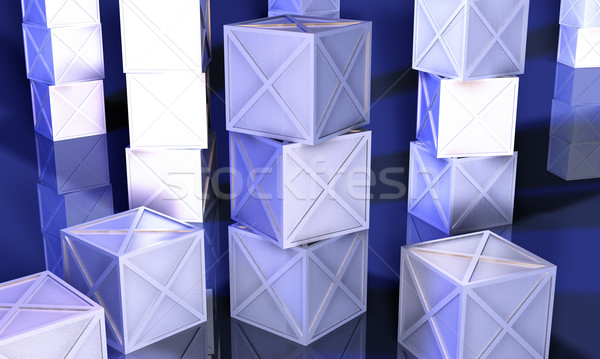 Stacked Iron Boxes Stock photo © Spectral