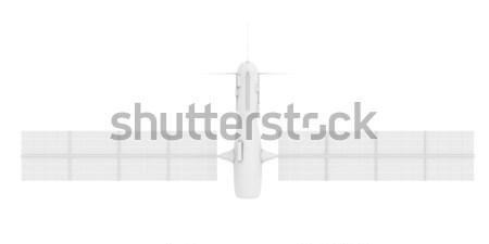 Satélite isolado ciência industrial gráfico com Foto stock © Spectral