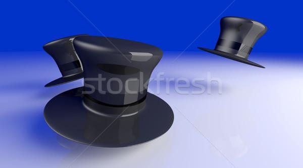 Cylinder hat klasyczny 3D świadczonych ilustracja Zdjęcia stock © Spectral