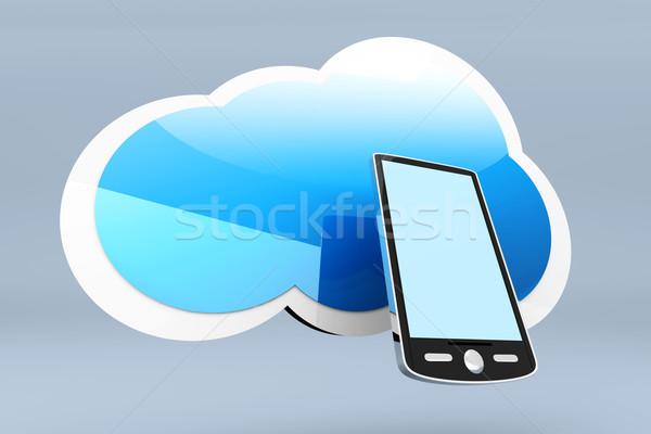 Bulut hareketli 3D render örnek Stok fotoğraf © Spectral