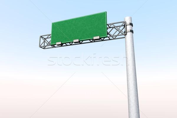 Boş otoyol işareti 3D render örnek sokak Stok fotoğraf © Spectral