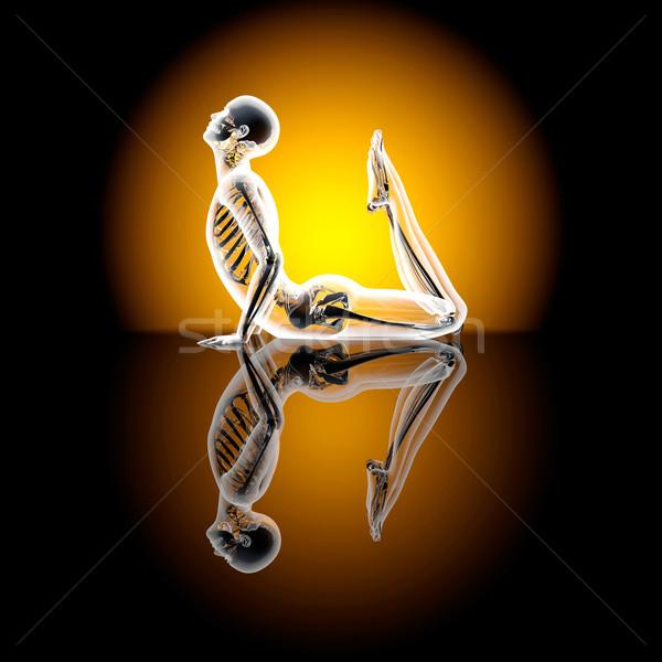 Rei cobra ilustração 3d esportes fitness Foto stock © Spectral