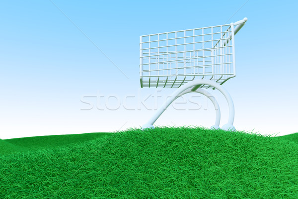 Shopping Cart on Green Hills Stock photo © Spectral
