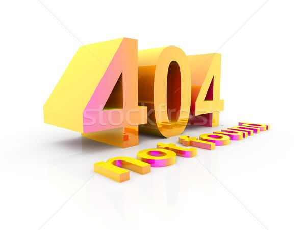 404 3D prestados ilustración aislado blanco Foto stock © Spectral