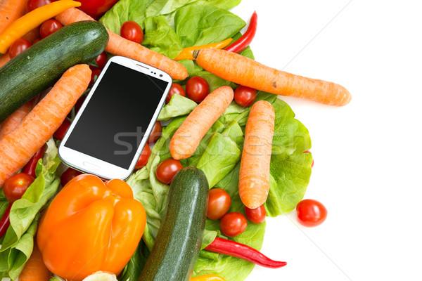 Verdura smartphone internet sfondo mercato Foto d'archivio © Spectral