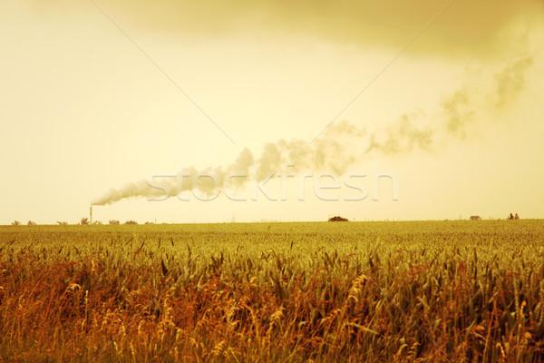 Donkere verontreiniging foto aarde rook industrie Stockfoto © Spectral