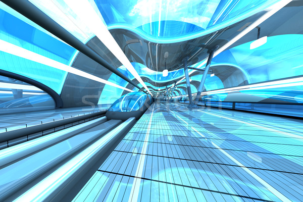 Futuristic Subway Station Stock photo © Spectral