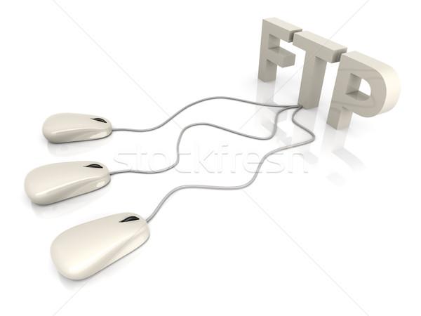Ftp 3D prestados ilustración conexión Foto stock © Spectral