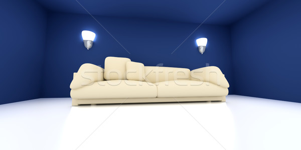 Sofa in a blue room Stock photo © Spectral