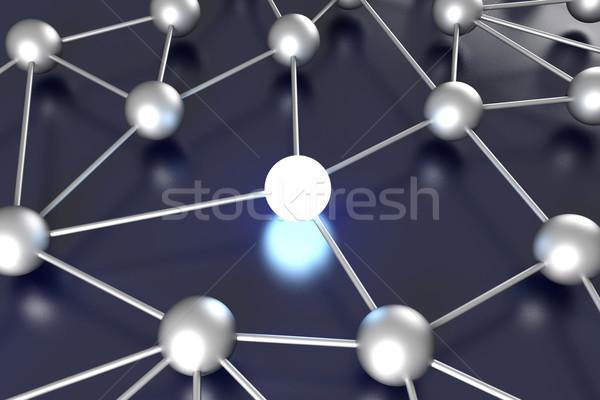 Netwerk knooppunt 3D gerenderd illustratie energie Stockfoto © Spectral