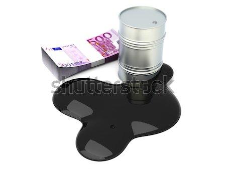 Olie lekkage vat 3D gerenderd illustratie Stockfoto © Spectral